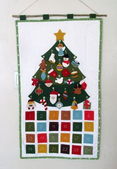 Custom Christmas Advent Calendar by raindropstops on Etsy