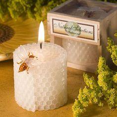 La cire d'abeille pure Bougies faveurs de mariage