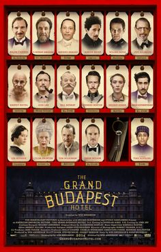 Une affiche interarctive pour The Grand Budapest Hotel de Wes Anderson