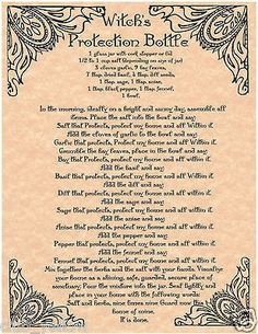 WITCH'S PROTECTION BOTTLE: