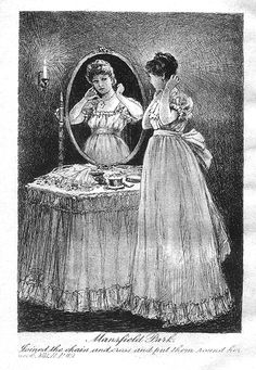 """""""Joined the chain and cross and put them round her neck"""" - Illustration to Mansfied park."""