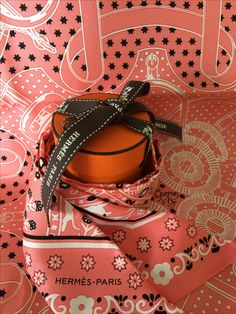 Gift from S 20161001 | 15AW Twilly bandana twill 100% soie, 86x5cm | Peuple du Vent | Ref. : H062878S 08 rose malabar/noir/blanc | $160