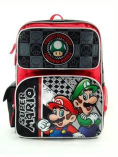 Black Friday 2014 Large Rolling Backpack - Nintendo - Super Mario - Power Players New Bag 076973 from Nintendo Cyber Monday. Black Friday specials on the season most-wanted Christmas gifts.