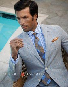 Robert Talbott Spring 2014 Carmel Coat, Estate Dress Shirt, Pocket Square, Best of Class Tie | Raddest Men's Fashion Looks On The Internet: http://www.raddestlooks.org