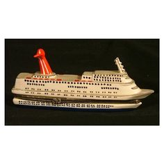 Bon Voyage Cruise Ship Oceanliner Hinged Trinket Box