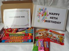 Retro Sweets Gift Box 40th to 49th Birthday FREE personalisation  (45 sweets)  | eBay
