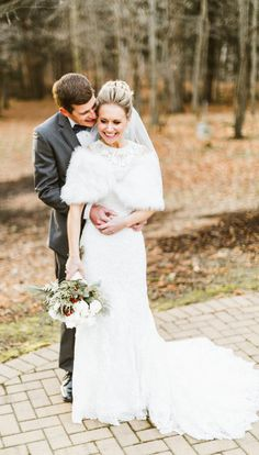 Adorable winter wedding style. Bride wore: http://ninashoes.com/rhonae-ivory-crystal-satin--18910?c=277&utm_source=Pinterest&utm_medium=Social%20Media%20Campaign&utm_campaign=Rhoane%20Molly%20Jo%20 Photography by http://www.mollyjocollection.com
