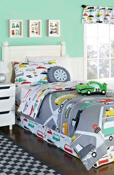 KAS Designs 'Road Train' Duvet Cover Set available at Car Bedroom, Bedroom Furniture Sets, Bedroom Themes, Bedroom Decor, Bedroom Ideas, Duvet Sets, Duvet Cover Sets, Big Boy Bedrooms, Kids Bedroom Designs