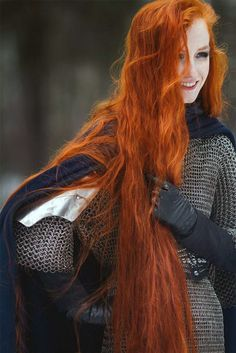 Medieval celt female warrior.