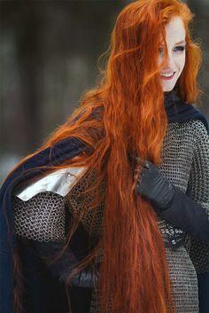 Medieval celt female warrior.