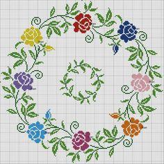 235 Likes, 14 Comments - demet Cross Stitch Pillow, Cross Stitch Heart, Cross Stitch Borders, Cross Stitch Flowers, Cross Stitch Designs, Cross Stitching, Cross Stitch Embroidery, Embroidery Patterns, Cross Stitch Patterns
