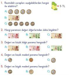 4th Grade Activities, 1st Grade Math Worksheets, Turkish Language, Grade 1, Swan, Swans