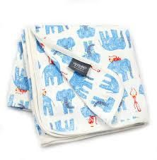 Jaipur Interlock Elephant Monkey Blanket