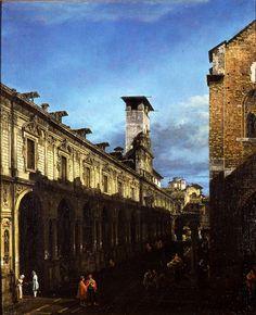 Bernardo Bellotto - Il palazzo dei Giureconsulti e il Broletto di Milano (1744)…