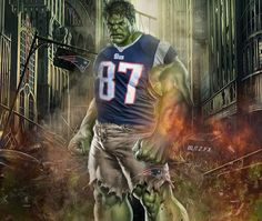 The Incredible Gronk! You won't like him when he is mad