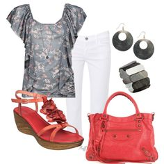 shell be coral, created by fluffof5 on Polyvore