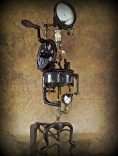 Automata © - Found Object Light Sculpture by Assemblage Artist, Jay Lana