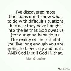 christian quotes | Matt Chandler quotes | suffering