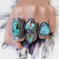 Turquoise Ring >> Another close up shooting for your eye refreshing today. From amazing green to stunning blue. No one can resist these temptations. #atthursday #turquoise  #turquiosering #turquoisejewelry #gypsysoul #wanderlust #freespirit #boho #MadeinAustralia