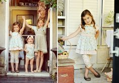 Vintage inspired kid's clothing by Olive's Friend Pop..love!