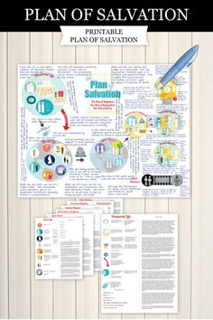 Amazing printable Plan of Salvation! Contains 41 illustrated essential doctrines! So many ideas to use with toddlers to teenagers (or adults like me). Child Teaching, Teaching Plan, Teaching Aids, Plan Of Salvation Lds, Red Headed Hostess, Young Women Lessons, Youth Activities, Sunday School Lessons, Scripture Study