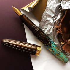 Each BENU pen is a stylish accessory and a real pleasure to use. Quill And Ink, Chocolate Fountains, Pen Collection, Stationery Pens, Writing Pens, Fountain Pen Ink, Writing Instruments, Mint Chocolate, Typewriter
