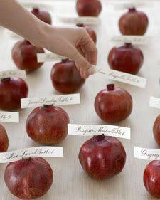 Love this idea. Pomegranates.