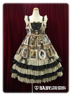baby, the stars shine bright Looking for Baroque~ Visiting art museums of the supreme bliss that an angel blesses long frill jumper skirt