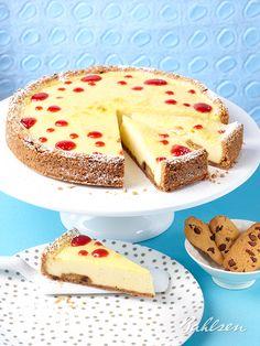 Locker, cremig, fruchtig - unser Chokini Käsekuchen. // Fluffy, creamy, fruity - our Chokini #Cheesecake. #baking #recipe #Bahlsen #LifeIsSweet