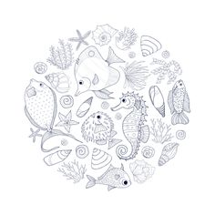 Did you know the ocean covers 71% of the Earth's surface and that 95% of it remains unexplored! Lets go on an amazing adventure with our under the sea coloring page, so many fantastic colors, beautiful fish, strange plants…waiting just for you.