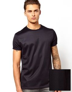 ASOS T-Shirt With Mesh And Roll Sleeves size M
