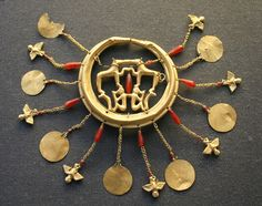 The Aegina Treasure or Aigina Treasure is an important Minoan gold hoard found on the island of Aegina, Greece. Since 1892, it has been part of the British Museum's collection.[1]