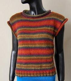 Free Vest Knitting Patterns Easy : Free Easy Knit Vest Patterns Swing Vest- Easy-to knit vest is worked in a s...