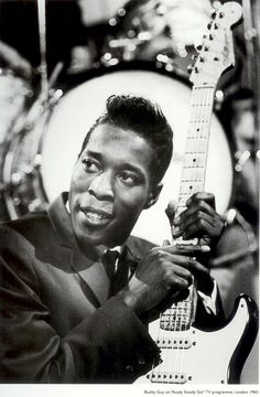 Buddy Guy, London (1965). His influence on guitar heroes such as Hendrix, Clapton & SRV can't be overstated. A stinging attack, muscular tone and greasy phrasing, paired with a singing voice that makes hair stand up on the back of people's necks.