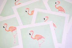 """I have """"met"""" so many talented and amazing people through social media, over the years. It's really such an awesome thing. One of my friends, Susie Bettenhausen is such a talented artist. I love all of her work. Last year, she painted the most amazing flamingo print for Reagan's bedroom. I wish... - http://www.fancyashley.com/2015/06/09/flamingo-print-giveaway-5-winners/"""