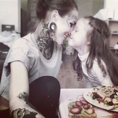 You can have tattoos and still be a great mother<3