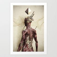 †††BUY HERE †††  http://society6.com/product/the-creation-fru_print#1=45  Vintage, Anatomy, Biology, Painting, Muscles, Bones, Skeleton, Human, Romantic, Red, Yellow, White, Creation, NotAPanda, NotACat