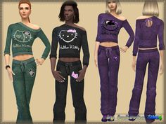 Created By bukovka Set Hello Kitty Created for: The Sims 4 Pants and a sweater for women of soft velor with cute Hello Kitty print.It can be used as pajamas or clothing for the sport. Install a...