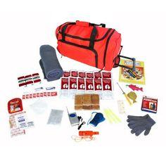 Survival Kit For Children - Red Wheel Bag