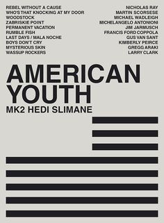 #Cover American Youth Dvd By Hedi Slimane #MK2 #americanyouth