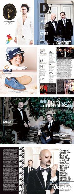 """DONNA IMPRESA MAGAZINE 2013/2014 cover Pierlorenzo Bassetti e Marco Gambedotti - Magazine with 58 pages: """"IT MAKES THE DIFFERENCE"""" Percorsi professionali diversi ma sensibilità affini avvicinano il duo creativo che ama spaziare nella cultura dell'immagine verso l'inventiva e l'originalità. La loro, è una ricerca della bellezza orientata alla felicità. Obiettivo solo per gente tosta, gente che ha capito una cosa: bisogna concedersi sempre una possibilità. O forse più di una. Pierlor..."""