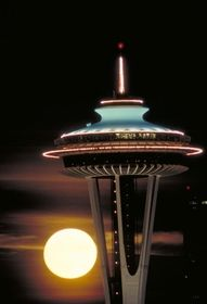 Seattle Space Needle - great place for lunch and an amazing view- must go get dinner there when the fire works go off- sometime soon! <3 Maybe July 4th?