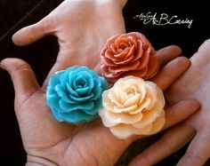 Carving soap flower, caramel soap flower, custom color soap flower, colorfull soap flower, wedding carving soap, wedding soap flower by AtelierABCarving on Etsy