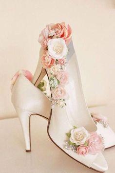 Items similar to Whimsical Woodland Blush Flower Bridal Shoes, Shoe Embellishing Service, Rhinestone Wedding Shoes, Bridal Shoes, Floral Shoes on Etsy - Schuhe Pretty Shoes, Beautiful Shoes, Cute Shoes, Me Too Shoes, Rhinestone Wedding Shoes, Bridal Shoes, Diy Wedding Shoes, Wedding Jewelry, Whimsical Wedding