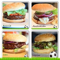 World Cup promotional burgers!