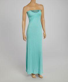 f83ed3ce27 Love this Mint Empire Waist Strapless Dress by Modern Touch on  zulily!   zulilyfinds