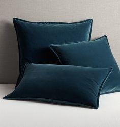Italian Velvet Pillow Cover - Ocean Blue - | Rejuvenation