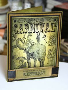 Carnival digi.. Happy Birthday card