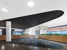 Coffee Bar - Scope Architekten Transforms the Corporate Campus of German Software Giant SAP Interior Design Magazine, Office Interior Design, Office Interiors, Office Designs, Dental Office Design, Healthcare Design, Long House, Precast Concrete, Futuristic Design