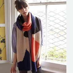 """Scarf """"Knitsperation"""" ... I love oversized scarves and cowls."""